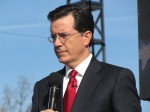 Stephen Colbert at podium during Formidable Opponent