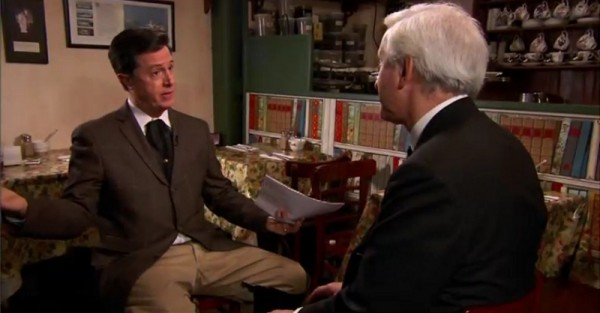 Stephen Colbert speaks with Hugo Vickers