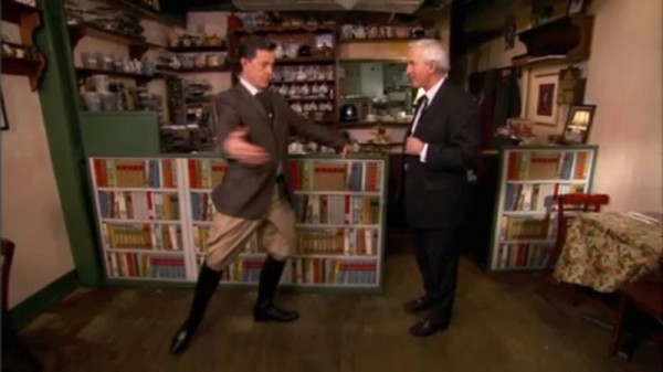 Stephen Colbert displays his agility