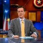 Stephen Colbert sends a special kiss to someone out there