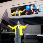 Stephen Colbert at the New York Auto Show