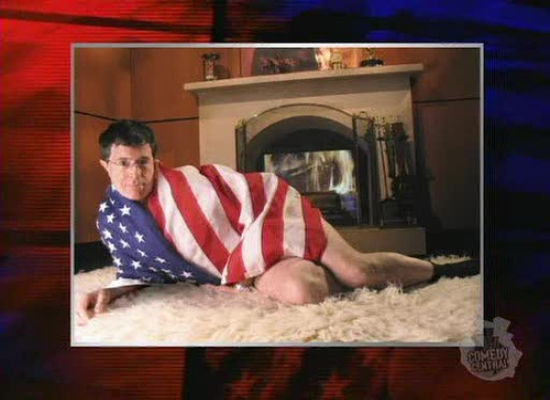Click here to vote for Stephen Colbert as the American Flag Bikini Moment on Huffington Post