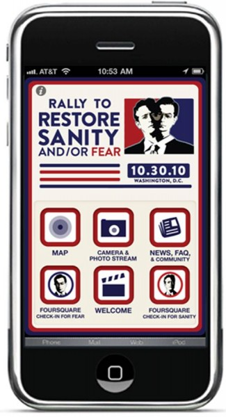 Rally To Restore Sanity And Or Fear - iPhone App