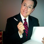 Stephen Colbert backstage at the Colbert Report