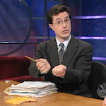 Stephen Colbert does taxes