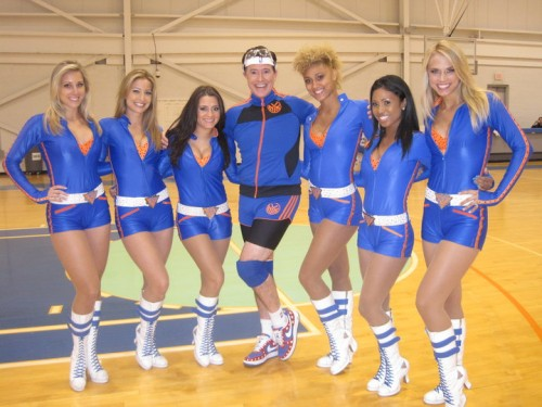 Stephen Colbert with Knicks City Dancers