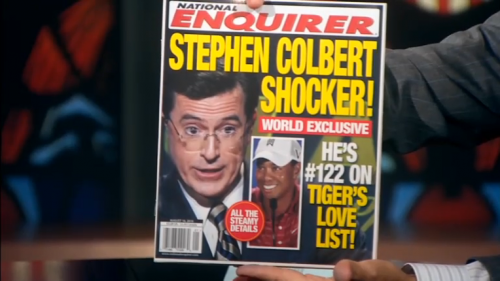 Stephen Colbert on cover of National Enquirer