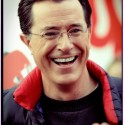 Stephen Colbert blue vest smile