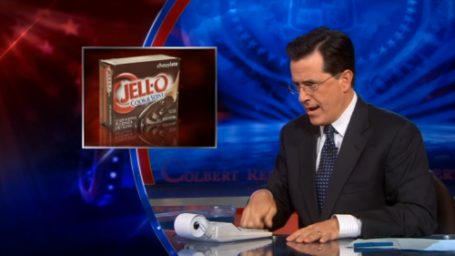 Stephen Colbert does Pudding Mathematics